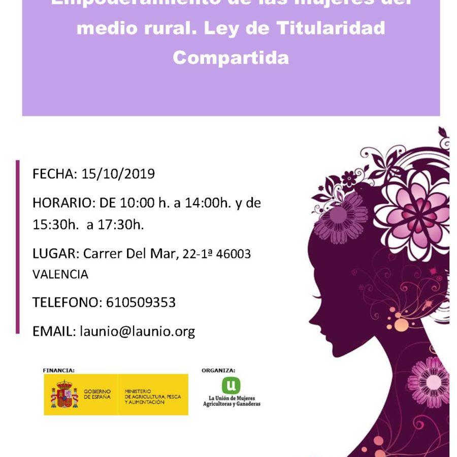 Jornadas de Titularidad Compartida en Valencia