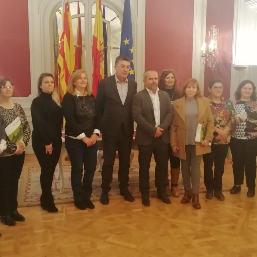 El áera de la Mujer de LA UNIÓ se reunió con el President de Les Corts Valencianes, Enric Morera